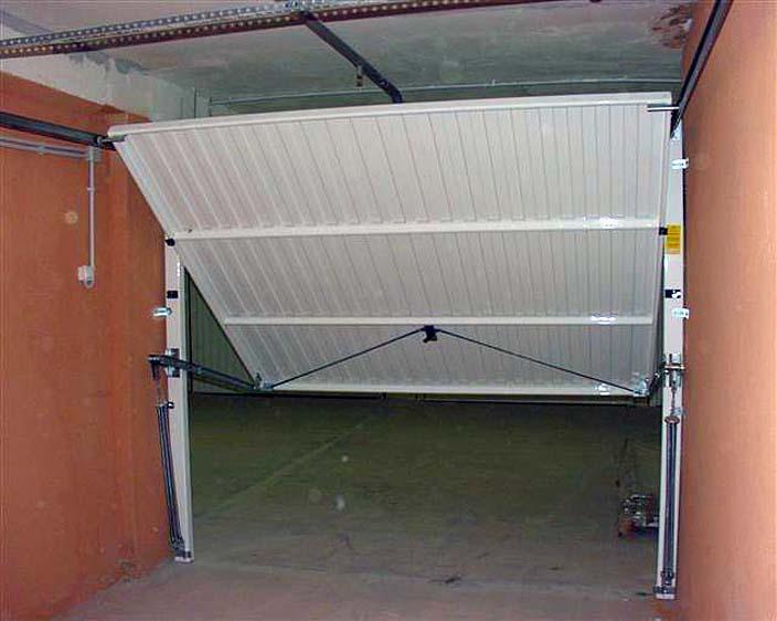 Подъемно поворотные гаражные ворота своими руками фото